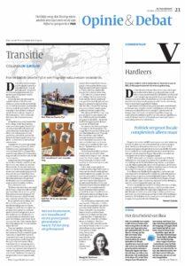 Volkskrant transitie Sint Piterfeest